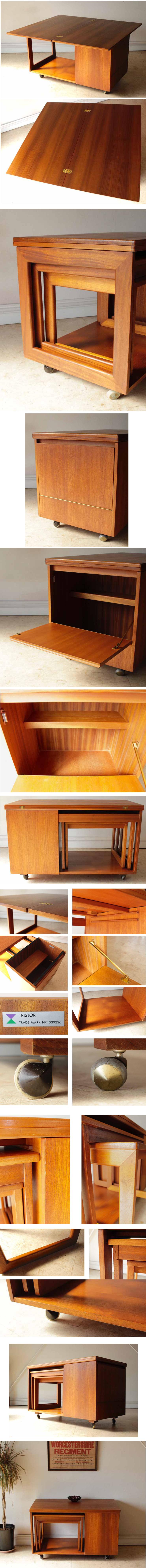 ビンテージアンティークMcintoshマッキントッシュ・ネストテーブル・センターテーブル/チーク家具北欧ミッドセンチュリー輸入家具