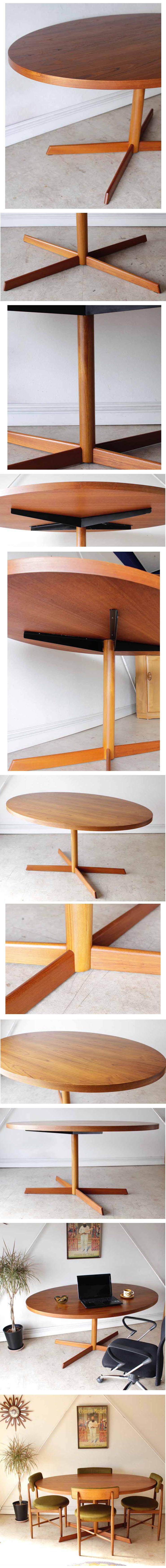 イギリス・ダイニングテーブル・オフィス・パソコンデスク・チーク・ビンテージ・アンティーク・北欧・ミッドセンチュリー