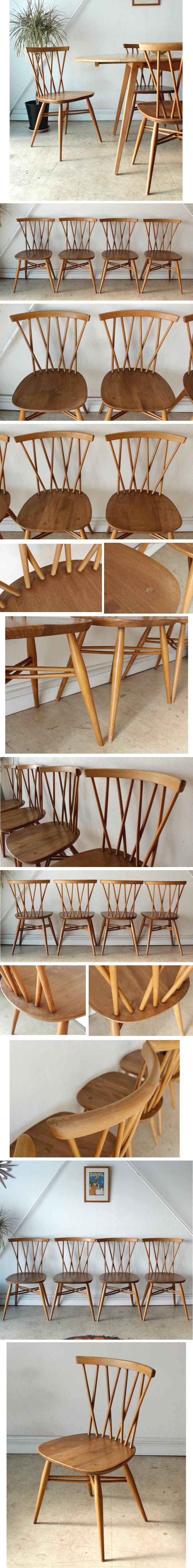 アーコール・チェア・椅子・アンティーク・ヴィンテージ・クロスバック・エックスバック・無垢・北欧