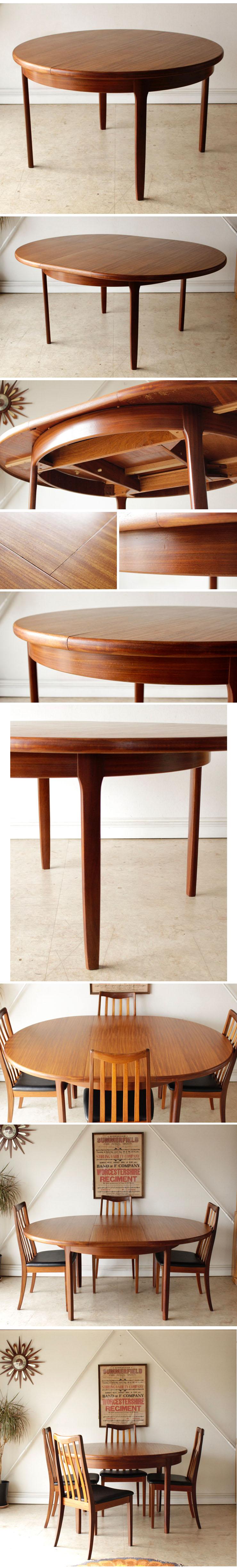 ダイニングテーブル・elliotts of newbury・チーク・エクステンション・イギリス・ビンテージ・アンティーク・北欧・ミッドセンチュリー