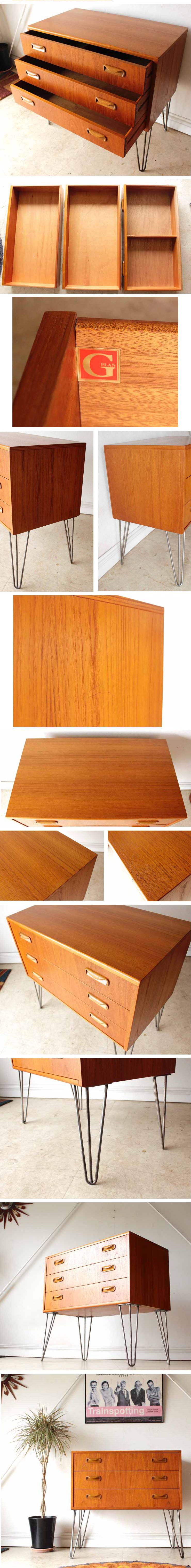 ジープラン・G-plan・チェスト・アイアンレッグ・ビンテージ・家具・アンティーク・サイドボード・ミッドセンチュリー
