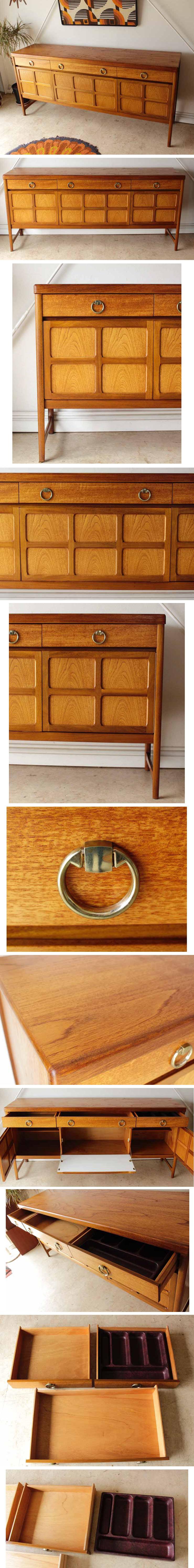 ネイサン・サイドボード・テレビボード・チーク・ビンテージ・北欧・輸入家具