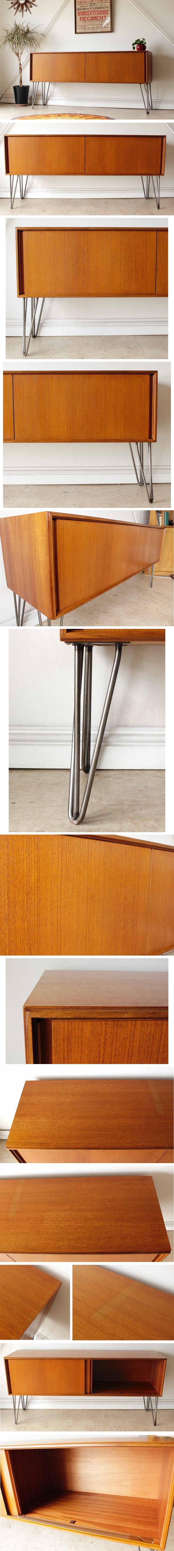 ジープラン・アイアンレッグ・サイドボード・テレビボード・チーク・イギリス・ビンテージ・アンティーク・北欧・輸入家具