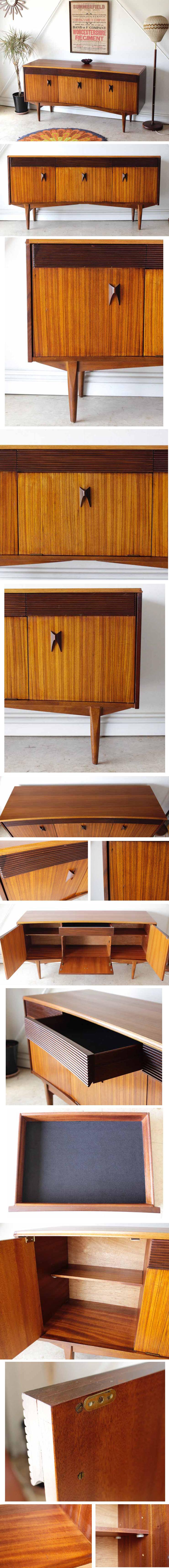 サイドボード・テレビボード・チーク・イギリス・ビンテージ・アンティーク・北欧・輸入家具