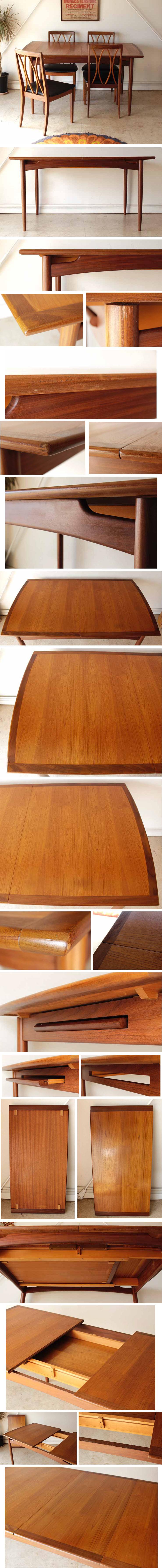 ジープラン・G-plan・ダイニングテーブル・エクステンション・ビンテージ・家具・アンティーク・北欧・インテリア・チーク