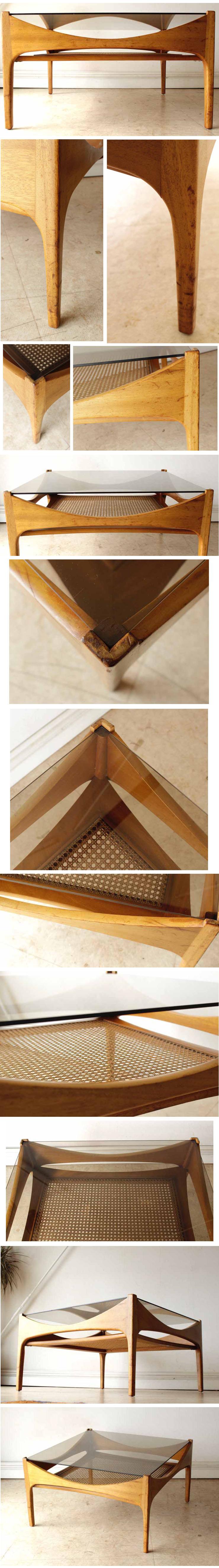 コーヒーテーブル・センターテーブル・ガラス・マガジンラック・ビンテージ・アンティーク・北欧・輸入家具・イギリス