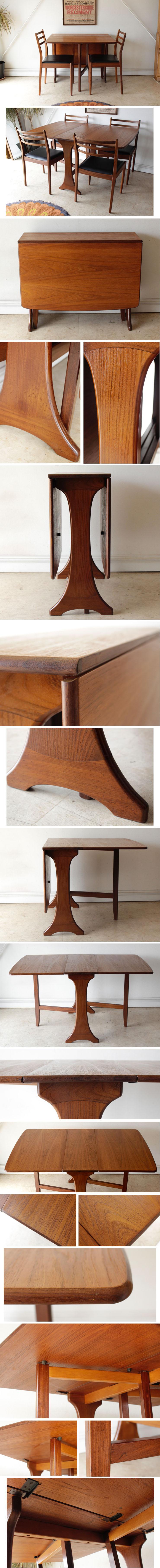 ジープラン・G-plan・ダイニングテーブル・チーク・ドロップリーフ・イギリス・ビンテージ・アンティーク・北欧