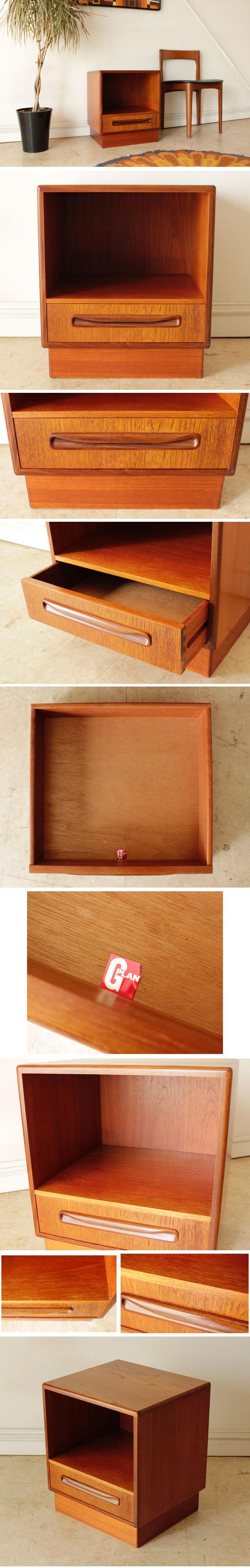 ジープラン・G-plan・キャビネット・サイドテーブル・チーク・収納・フレスコ・イギリス・ビンテージ・アンティーク・北欧