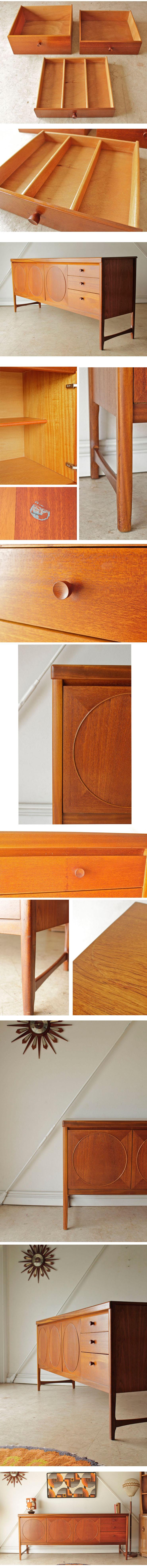 Nathanネイサン・サイドボード・テレビボード【サークル】【ビンテージチーク】ミッドセンチュリー家具014057