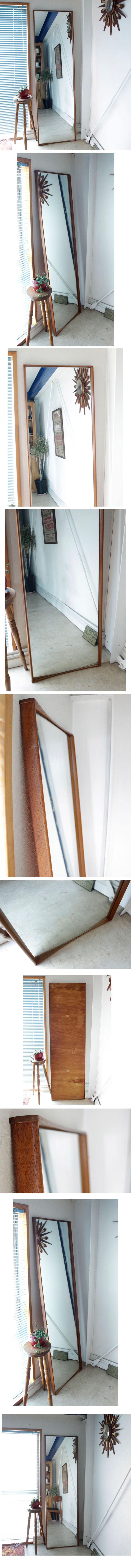 イギリス製・ビンテージ・ミッドセンチュリー・ミラー・姿見・全身鏡・アンティーク・インテリア雑貨